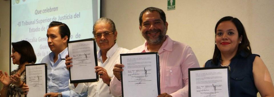 El Magistrado Presidente firmó un Convenio Interinstitucional