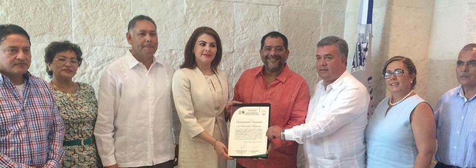 El magistrado Robespierre Robles Hurtado, firmó a nombre del Tribunal Superior de Justicia un convenio de colaboración con la Universidad Hipócrates de Acapulco.